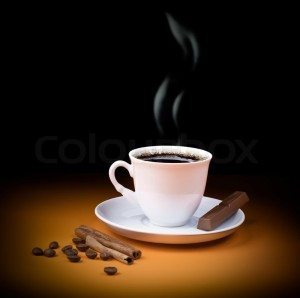 3281518-black-coffee-cup-with-steam-and-piece-of-chocolate-beans-and-cinnamon