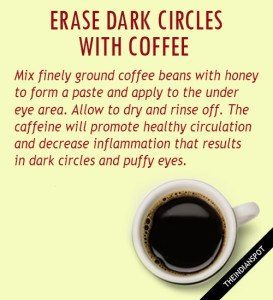Erase dark circles with coffee image